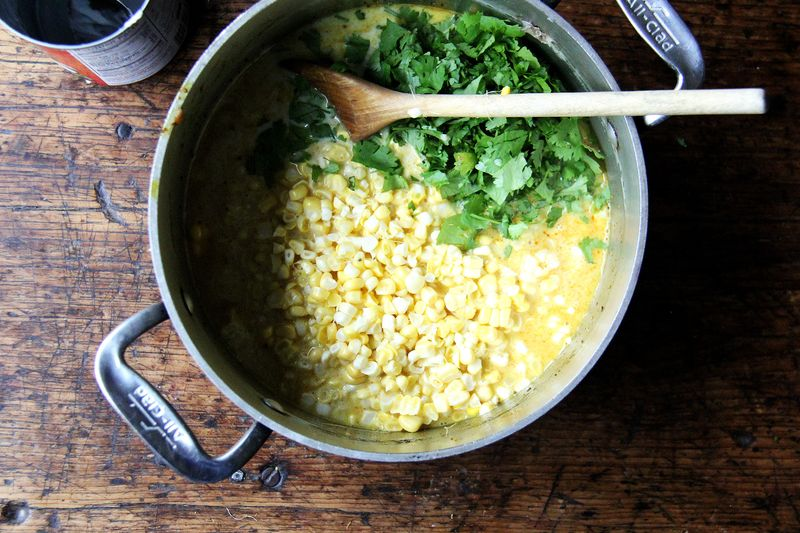 Use the freshest corn for this.