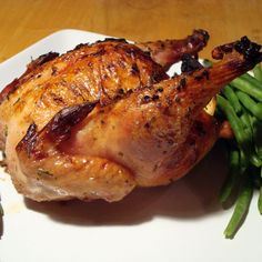 Lemon-Rosemary Cornish Game Hens
