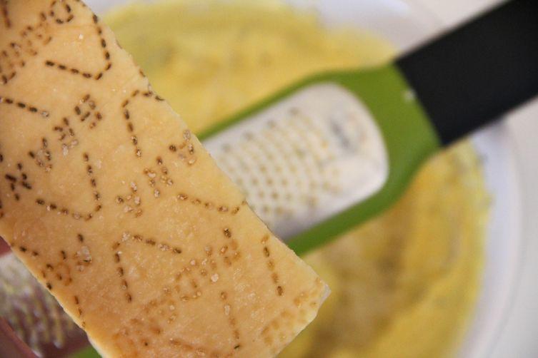 Lemon Thyme Deviled Eggs with Grana Padano Frico