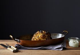 Alon Shaya's Whole Roasted Cauliflower with Whipped Goat Cheese