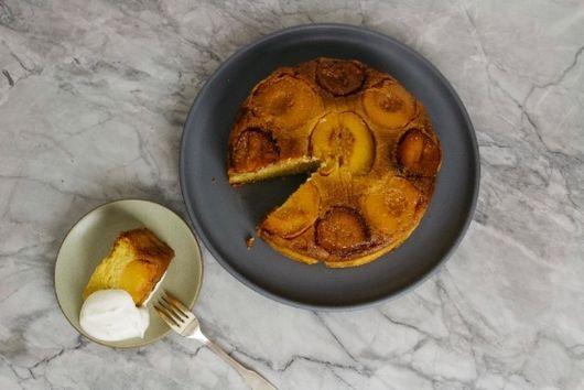 Stone Fruit Almond Polenta Cake