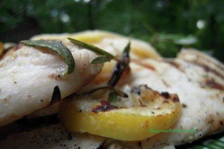 Grilled Meyer Lemon Pizza with Chicken, Goat Cheese and Thyme Recipe ...