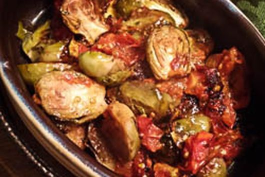 Balsamic Brussels & Tomatoes