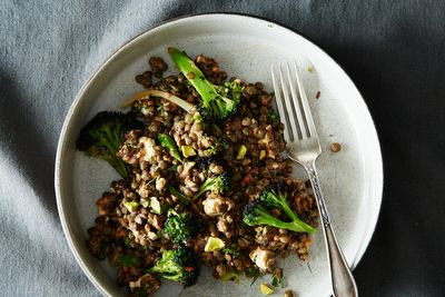 Charred Broccoli and Lentil Salad