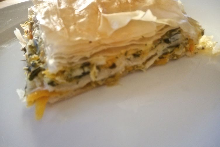 Savory Squash and Spinach Pie