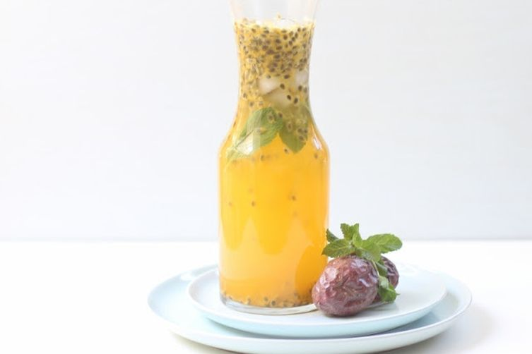 Spiked passion fruit sparkler