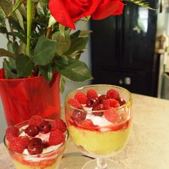 Raspberry-Lime Parfaits with Whipped Goat Cheese