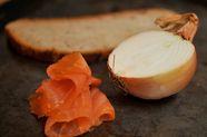 Smoked Salmon Mousse on Rye Toasts