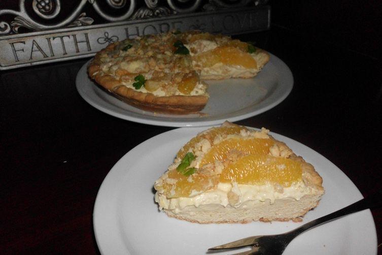 Orange Custard Crumble Pie