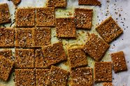Chickpea and Buckwheat Crackers with Turmeric and Fennel