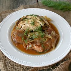 Slow Cooked Pork Chops with Cabbage, and Fennel