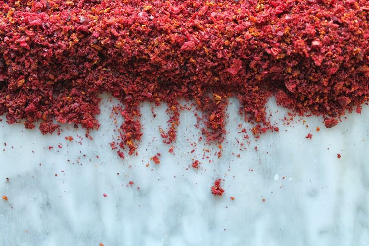 Oven Dried Cranberry and Orange Peel Salt