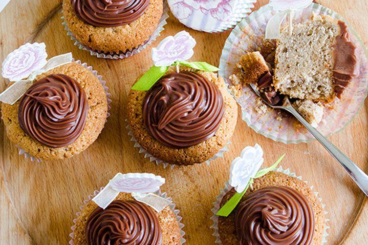 Walnut Cupcakes with Creamy Lindt Chocolate Ganache