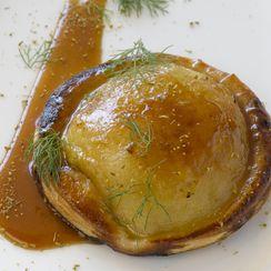 Heirloom Apple Galette, Fennel Caramel