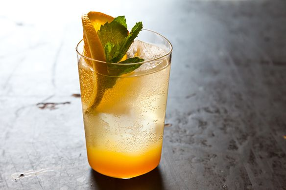 Orange Ginger Mint Sodas from Food52