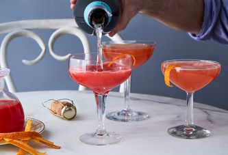Spunky Blood Orange Stars in This French 75 Redo