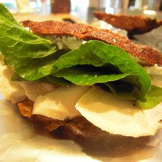 Chicken, Goat Cheese & Chutney on Pumpernickel