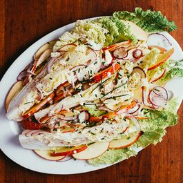 Napa Cabbage Wedge Salad with Apples and Buttermilk Dressing