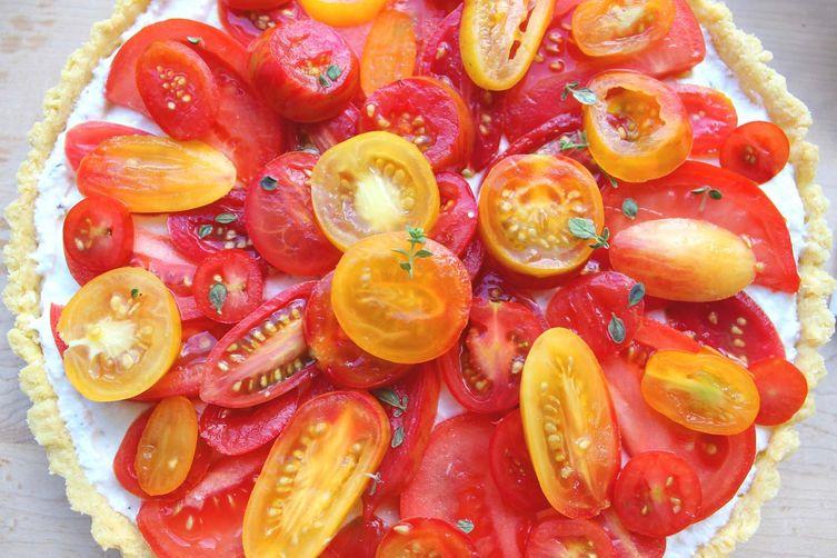 Farmer's Market Tomato and Ricotta Tart