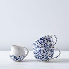 Floral Mugs & Creamer