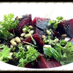 Pretty Beets & Tangy Orange Zest Salad