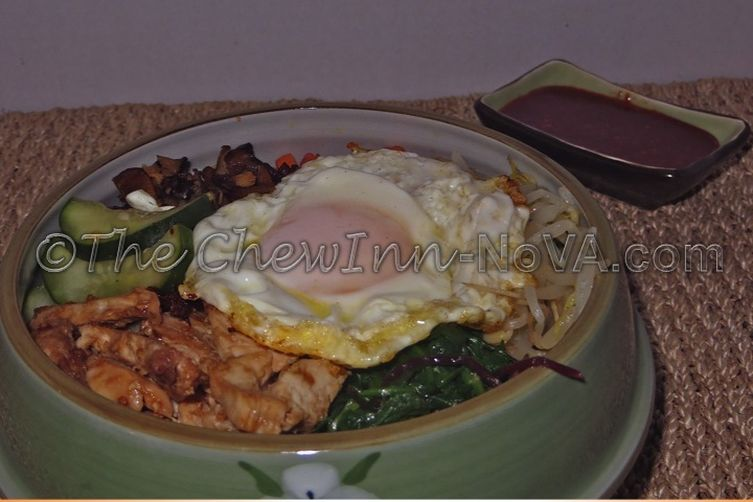 Bibimbap with Leftover Turkey