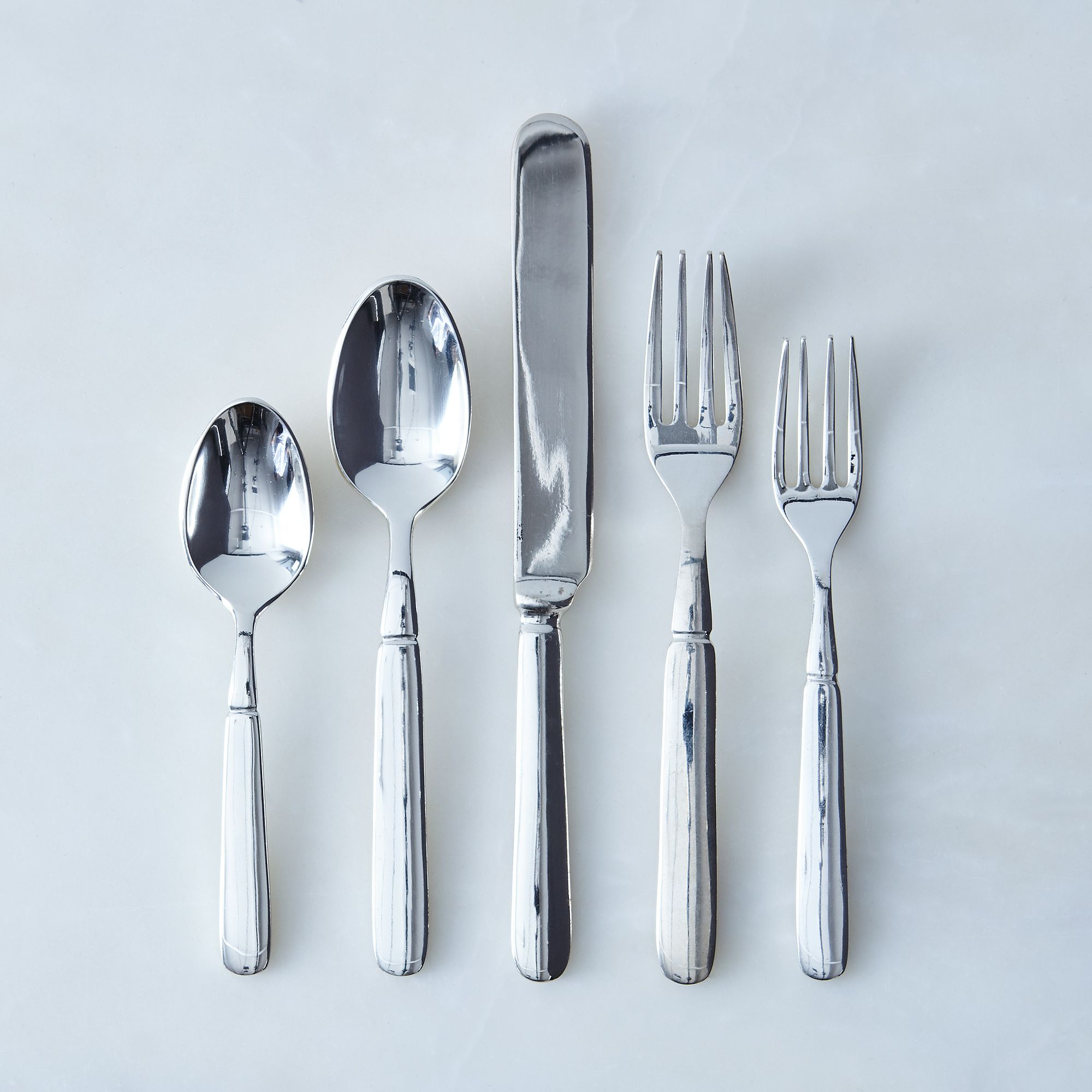Silver-Plated Florentine Flatware (5 Piece Place-Setting) on Food52