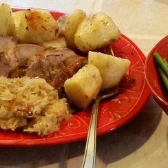 Scandinavian Roast Pork Loin with Sauerkraut