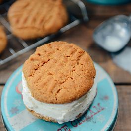 Sprouted Peanut Butter Cookies for Ice Cream Sandwiches