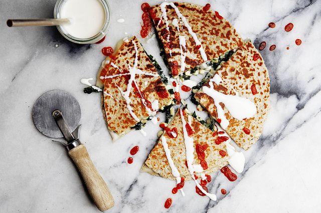Kale and Corn Quesadillas on Food52