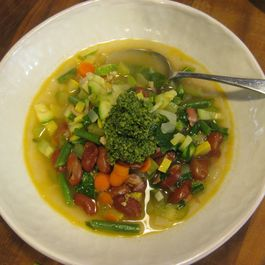 Harvest Minestrone with Herb Lemon Pesto