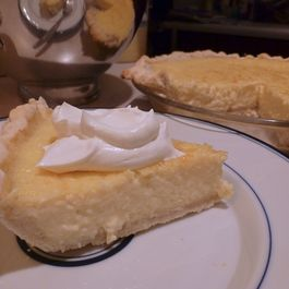 Coconut Custard Pie with Coconut Whipped Cream