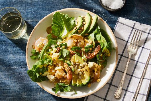 Corn, Shrimp & Avocado Salad With Chipotle-Pepita Dressing