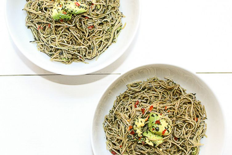 Raw Herb Pesto Pasta