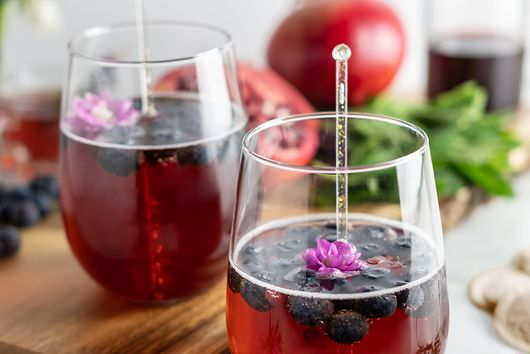 The Kenny Cocktail with Black Tea and Pomegranate Juice