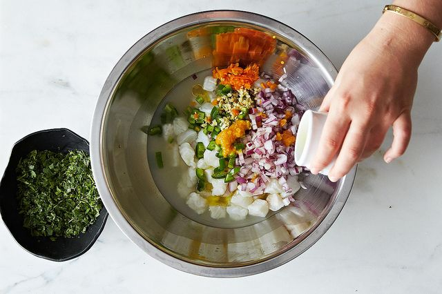 Making ceviche from Food52