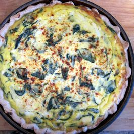 Spinach ricotta pie by Marilyn Ringwood