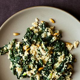 grains and kale