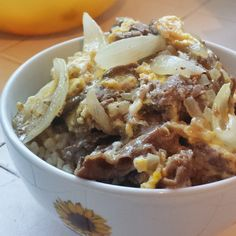Japanese Beef Rice Bowl (牛丼 - Gyudon)