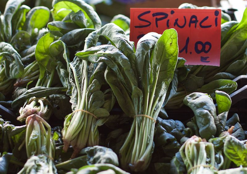 Spinach in a Florence market