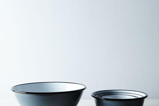 Porcelain Enamelware Nesting Bowls (Sets of 5)