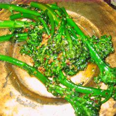 Italian Broccoli w/ olive oil, garlic, lemon & chile flakes