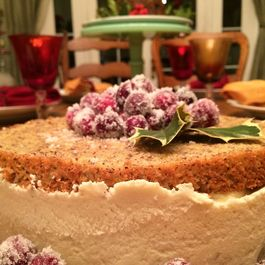 HAZELNUT CAKE WITH PEAR AND RICOTTA