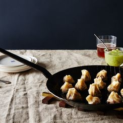 Lamb Dumplings with Cucumber Vinegar Dipping Sauce