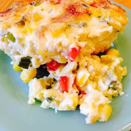 Summer Corn Pudding with Basil and Chives