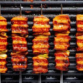 Korean Tofu & Leek BBQ