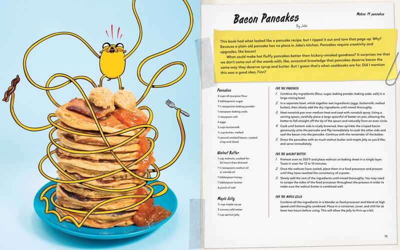 A spread from 'Adventure Time: The Official Cookbook'.