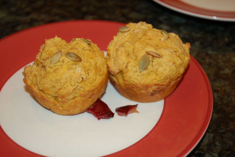 Whole Wheat Pumpkin Plum Muffins