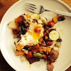 Veggie Paprika Egg Skillet