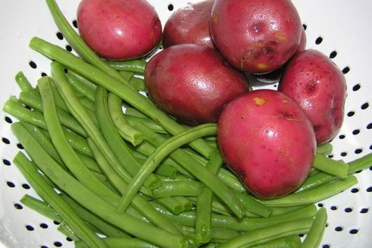 Buttered  Green Beans with Red Potatoes and Rosemary